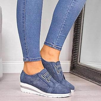 High Heel Lady Casual Damen Sneakers, Freizeit Plattform Schuhe