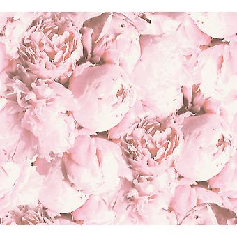 As Creation Floral vinyl wallpaper rose pink