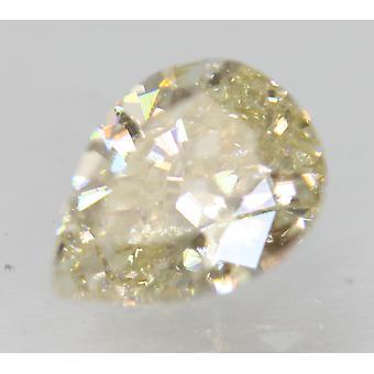 Cert 1.00 Karat Fancy Keltainen VS1 Päärynä Enhanced Natural Diamond 7.66x5.74mm