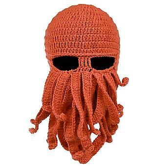 Beard Hat Beanie Hat Knit Hat Winter Warme Octopus Hat Windproof Funny Mannen Vrouwen