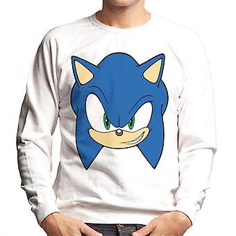 Sonic The Hedgehog Uśmiechnięta postać Głowa Mężczyźni's Bluza