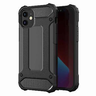 FONU Hybrid Armor Case Hoesje iPhone 12 Pro Max - Zwart