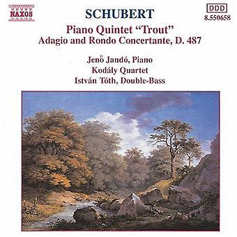 F. Schubert - Schubert: Piano Quintet Trout; Adagio and Rondo Concertante, D. 487 [CD] USA import