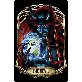 Mortal Tarot Obsidian The Devil Plaque