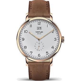 VOTUM - Reloj Unisex - VINTAGE - VINTAGE - V09.20.20.04 - correa de cuero - marrón claro
