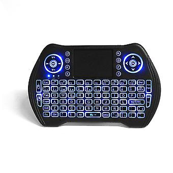 MT-10 2.4G Wireless Spanish Three Color Backlit Rechargeable Mini Keyboard Touchpad Air Mouse Airmou