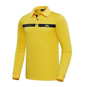 ربيع الخريف الرجال الأكمام الطويلة جولف تي شيرت 3 ألوان جولف ملابس الترفيه