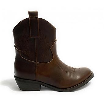 Women's Shoes Gold&gold Texan Ankle Boot Tc 40 In Ecopelle Brown D20gg41