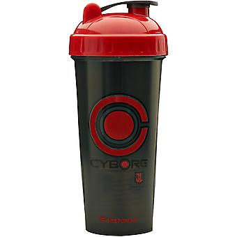 PerfectShaker Performa 28 oz. Justice League Shaker Cup Bottle - Cyborg
