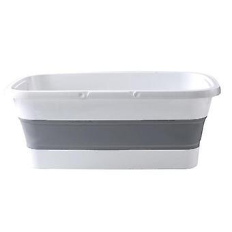 Kuuma taitettava Mop Bucket kokoontaitettava kannettava pesuallas astia kahvalla