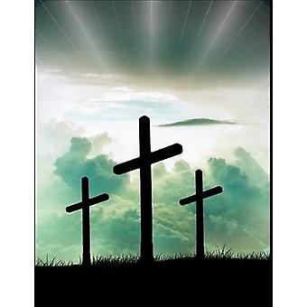 "The Cross Christian Inspirational Notebook - 100 Pages 8.5"" X 11&"