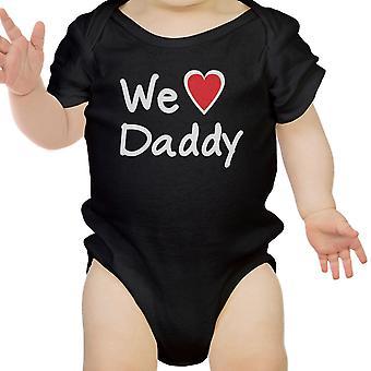 We Love Dad Black Design Baby Bodysuit Cute