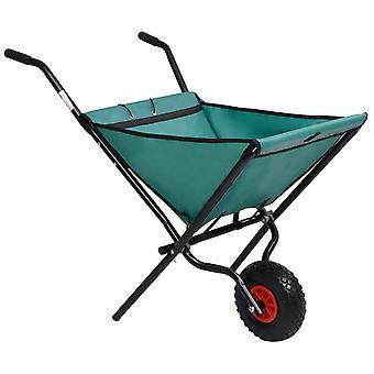 L Folding Garden Wheelbarrow 60 L Green