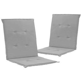 vidaXL hage stol utgave 2 stk. grå 100 x 50 x 3 cm