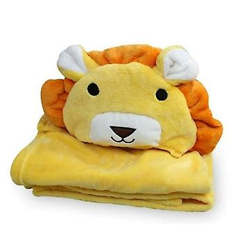 Pehmeä hupullinen eläin vauvan kylpytakki korkealaatuinen vauvan pyyhehahmo