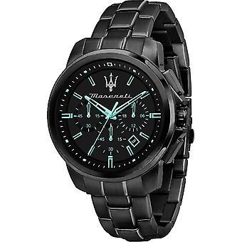 Maserati R8873644003 Successo Homme - Aqua Edition Black Bracelet Montre-bracelet