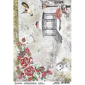 Ciao Bella Piuma Rice Paper A4 - Frozen Garden