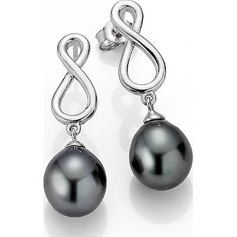 Adriana Perlenohrstecker Tahiti 9-10 mm Infinity Silber rhodiniert B1-S