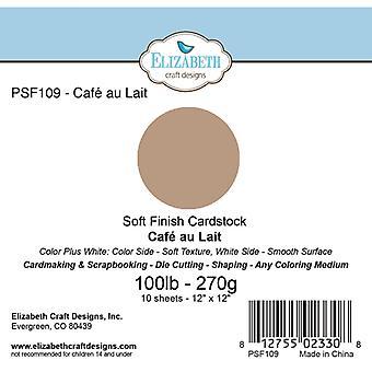 Elizabeth Craft Designs - Soft Finish Cardstock Cafe au Lait