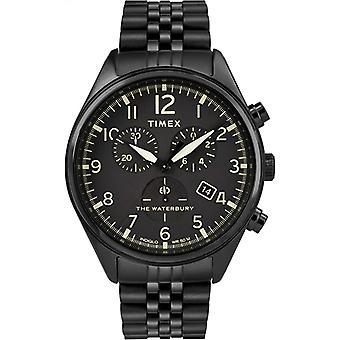 Timex Waterbury Chrono Rostfritt Stål Mens Klocka TW2R88600
