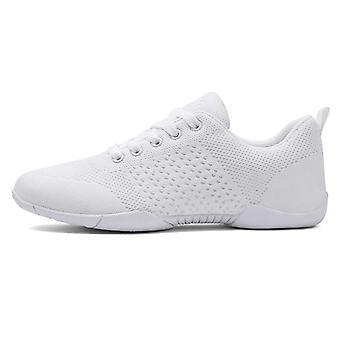 White Aerobic, Gymnastics Sports, Dance Cheerleading Shoes