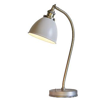 Endon Lighting Franklin Taupe And Brass Table Lamp