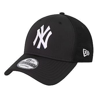 New Era NY Yankees Mesh Underlay 9 Forty Cap - Black / White