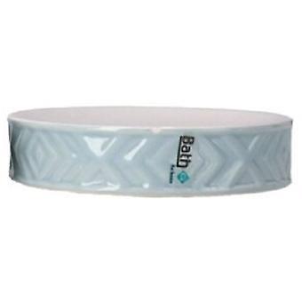 soap holder 11 x 2.5 cm ceramic blue