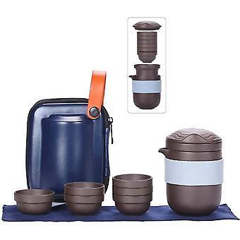 Travel Tea Sets Purple Clay