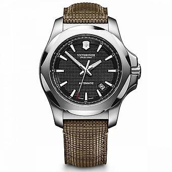 Relógio Victorinox I.N.O.X. masculino em couro marrom/madeira - 43 mm
