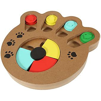 Wooden Interactive Puppy Dog Cat Feeder, Pet Mental Puzzle Toys