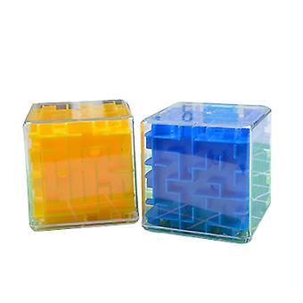 3D Sokkelo Liikkuva Pallo Magic Cube , Läpinäkyvä Kuusipuolinen Puzzle Lelu