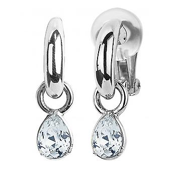 Traveller - Drop Clip Earrings - Swarovski Crystal - Platinum Plated - 157456 - 961