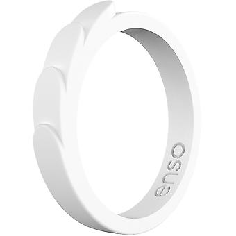Enso Rings Feather Series Silicone Ring - Blanco