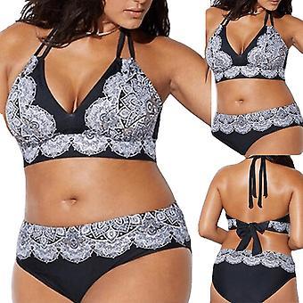 Sexy Bandage Bikinier Kvinder Plus Size Bandage Udskrivning Polstret Bh