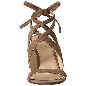 Nueve mujeres oeste Ronnie cuero Open Toe Slingback Casual sandalias