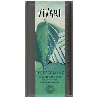 Vivani - Organic Peppermint Filled Dark Chocolate  100gx10