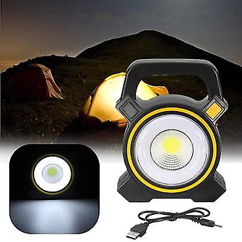 Varten 30W COB LED USB Solar Work Light Spotlight Tulvalamppu Lyhty Ulkona Camping WS40786