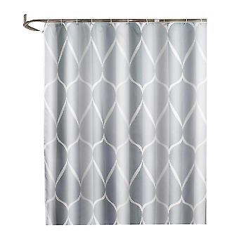 180X180cm grey 1pc simple bathroom curtain waterproof shower curtain thickened polyester bath curtain bathroom decoration for home hotel (grey) dt3296
