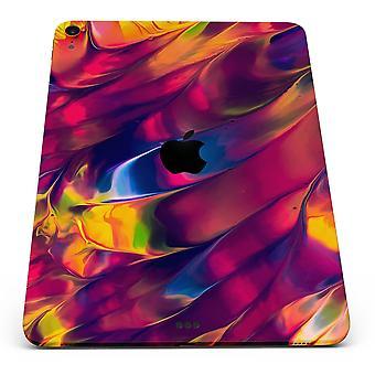 Fluxo abstrato borrado V13 - Decalque da pele do corpo inteiro para o ipad da Apple