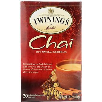 Twining Tea Tea Chai, Case of 6 X 20 Bags