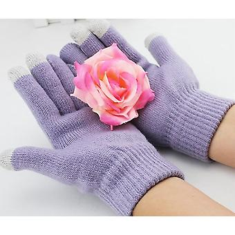 BLU Grand X (Roxo Claro) Unissex One Size Winter Touchscreen Gloves For All Smartphones / Tablets