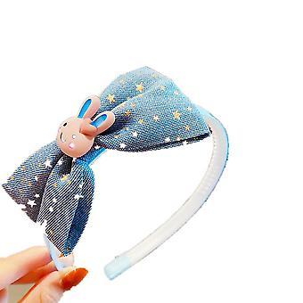 4PCS Nuove ragazze Carino Cartone animato Coniglio Orso Stampa Bow Hairbands Kids Lovely Hair Decorare Capelli fascia