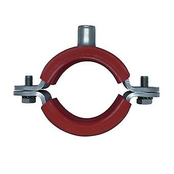 Munsen Bossed Pipe Clip per tubo da 25 Nb (tubo da 34 mm Od) T316 acciaio inossidabile di grado marino con gomma ignifugo