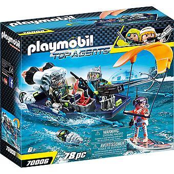 Playmobil 70006 Topp agenter S.H.A.R.K Harpoon Båt