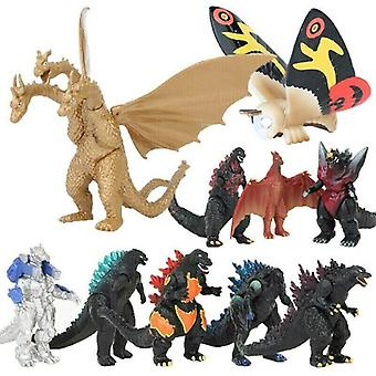 10PCS Godzilla King of the Monster Movie Action Figure Mechagodzilla Kids Toys