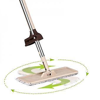 Hands-free Flat Mop With 3 Replaceable Microfiber Wipes, Flat Mop, Simple And Practical Cleaning Tool