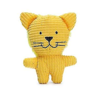 Lemmikki lelu pehmo koira molar puree kestävä lelu söpö eläin muoto (tiikeri)