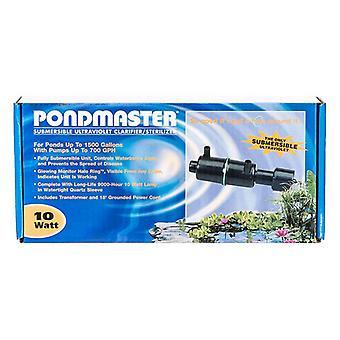 "Pondmaster Submersible Ultraviolet Clarifier & Sterilizer - 10 Watts - 700 GPH (1,500 Gallons - .75"" Inlet/Outlet)"
