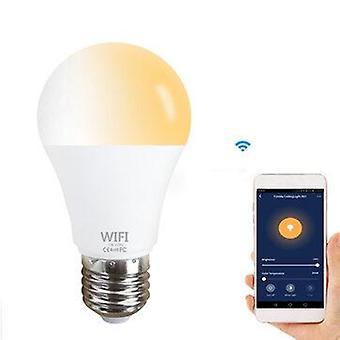 Smart wifi e27 e26 bulb cw+ww ac110/220v supports alexa google home voice control app control